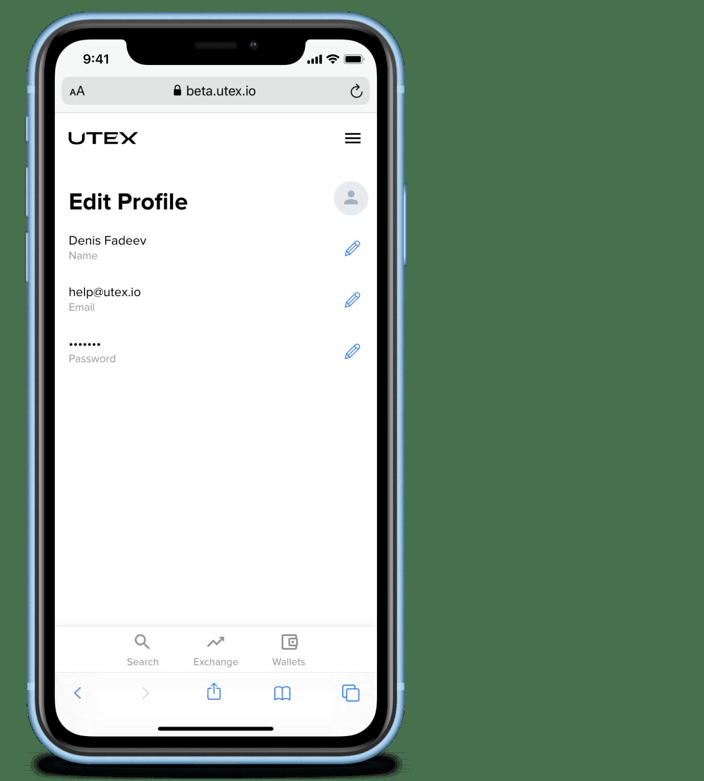 Editing user data